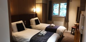 Twin bedroom at Center Parcs Longleat Executive Lodge