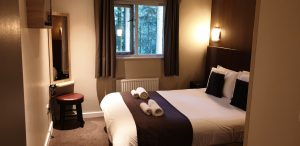 Double bedroom in Center Parcs Longleat Executive Lodge