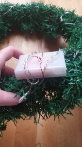 wreath battery operated lights
