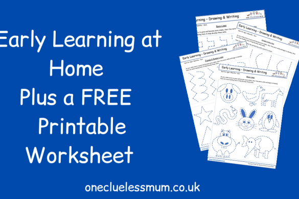 Early Learning at Home Plus a FREE 4-Page Printable Worksheet